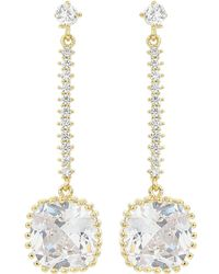 Mikey - Cubic Square Link Drop Earring - Lyst