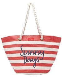 Joules Seaside Womens Summer Beach Bag S/s - Red