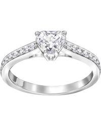 Swarovski - Attract Heart Ring - Lyst