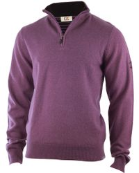 Cutter & Buck - Zip Neck Jumper - Lyst