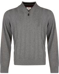 Cutter & Buck - Cable Zip Neck Jumper - Lyst