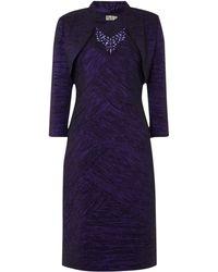 Eliza J - Crushed Taff Dress With Jacket - Lyst
