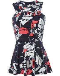 Ellen Tracy - Crossfront Knitted Shell Top - Lyst