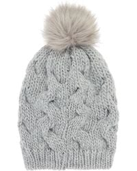 Label Lab - Cable Pom Hat - Lyst