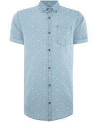 Jack & Jones - Nico Short Sleeve Denim Shirt - Lyst