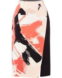 Ellen Tracy - Floral Print Wrap Skirt - Lyst