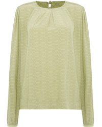 Noa Noa - Blouse With Geometric Deco Print - Lyst