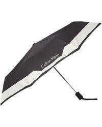Calvin Klein Medium Foldable Umbrella - Black