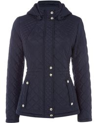Weatherproof - Hooded Quilted Jacket With Inner Drawcord - Lyst