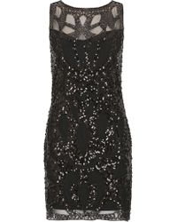 Tenki - Sequin Embellished Lace Party Dress - Lyst