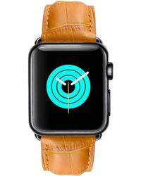 Mintapple - Alligator Strap For Black Apple Watch - Lyst