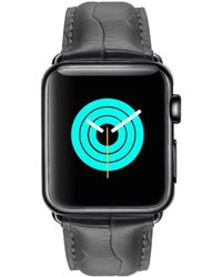 Mintapple - Crocodile Strap For Black Apple Watch - Lyst