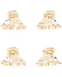 Accessorize - 2x Mini Crystal Bulldogs - Lyst