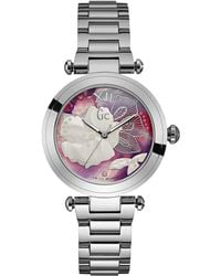 Gc - Y21004l3 Ladies Steel Dress Watch - Lyst