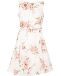 Izabel London - Floral Printed Waisted Dress - Lyst