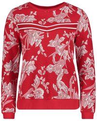 Betty Barclay Floral Textured Sweatshirt
