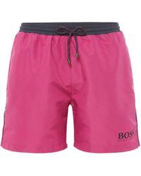 BOSS | Men's Starfish Contrast Waistband Swimsuit | Lyst