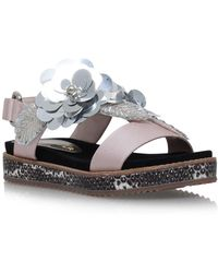 Kurt Geiger - Bumble Pale Pink Flat Sandals - Lyst