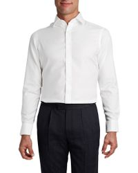 Tm Lewin - Men's White Twill Button Cuff Fitted Shirt - Lyst