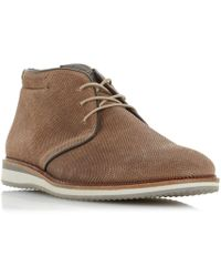 Dune - Chadwel Perf Upper Chukka Boots - Lyst