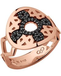 Links of London   Timeless 18kt Rose Gold Vermeil & Black Sapphire   Lyst