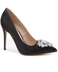 Paradox London Pink Cecily Jewelled Stiletto Court Shoes - Black