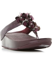 Fitflop | Boogaloo Embellished Toepost Sandals | Lyst