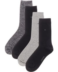 CALVIN KLEIN 205W39NYC - 4 Pp Holiday Sparkle Crew Sock Gift Pac - Lyst