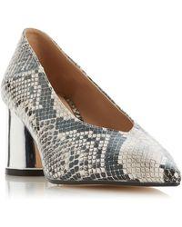 Dune - Head Over Heels By Dune Grey 'amyyy' Mid Heel Court Shoes, Grey - Lyst