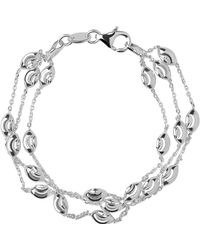 Links of London - Beaded Chain 3 Row Bracelet-m - Lyst