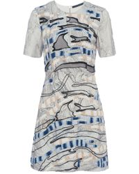 French Connection - Derain Stitch Back Cut Out Dress - Lyst