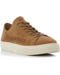 TOMS - Lenox Unlined Suede Weave Trainer - Lyst