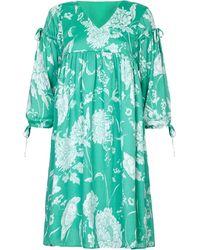 Yumi' - Floral Print Tassel Tunic Dress - Lyst