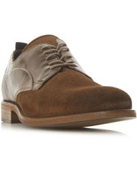 Bertie - Branco Perforated Lace Up Derby Shoes - Lyst