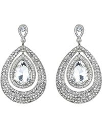 Mikey | Eclipse Crystal Twin Surround Earring | Lyst