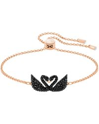 Swarovski - Iconic Swan Bracelet - Lyst