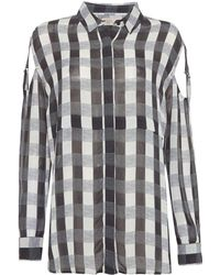 Label Lab - Gingham Check Blouse - Lyst