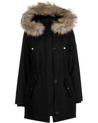 7153bca35 ONLY Oversized Padded Duvet Coat in Black - Lyst