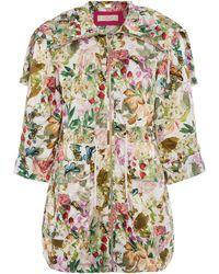 Eliza J - Printed Anorack Coat - Lyst