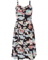 Levi's - Graphic Printed Button Up Dress - Lyst