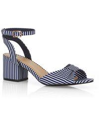 Oasis - Stripe Jane Block Sandals - Lyst