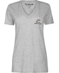 Firetrap Blackseal Loose V Neck T Shirt - Gray