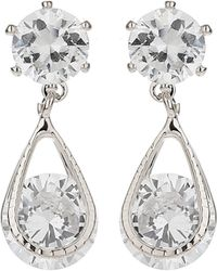 Mikey - Crystal Bead Dangling Drop Earring - Lyst