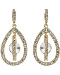 Mikey - Oval Design Dangling Crystal Earring - Lyst