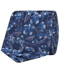 Alexandre Of England - Cardon Navy Floral Tie - Lyst