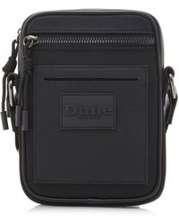 Dune Olives Zip Detail Flight Bag - Black