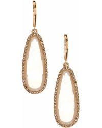 Lonna & Lilly - Studded Goldtone Drop Earrings - Lyst