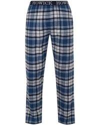Howick Check Pyjama Trousers - Blue