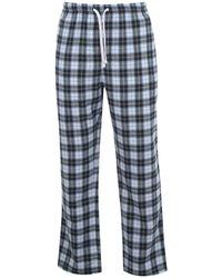 Howick Lumberjack Check Pyjama Bottoms - Green