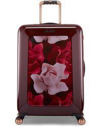 Ted Baker - Burgundy Porcelain Rose Medium Suitcase - Lyst